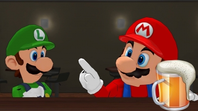 Mario at the bar