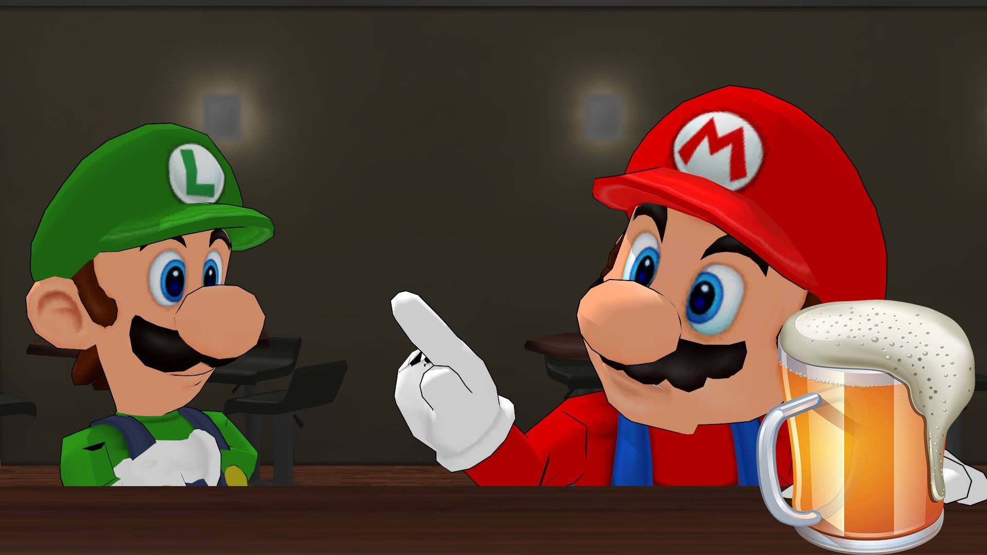 Mario at the bar